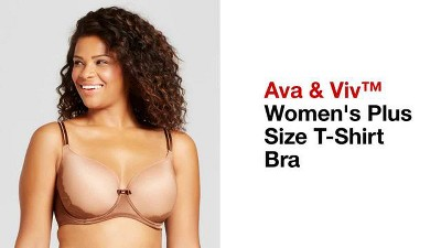7e9df29a472 Women s Plus Size T-Shirt Bra - Ava   Viv™ Honey Beige - 44DD   Target