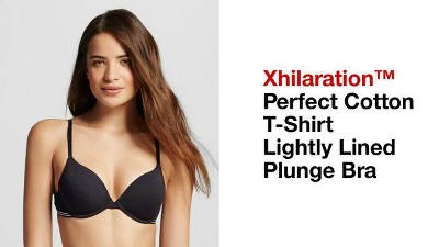 f4e22423dea6f ... Perfect Cotton T-Shirt Lightly Lined Plunge Bra - Xhilaration™ -. + 1  more
