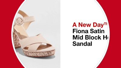 f880d872c74b Women s Fiona Glitter Satin Crossband Platform Quarter Strap Sandal - A New  Day™