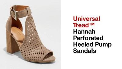 7439f37379ea Women s Hannah Microsuede Wide Width Laser Cut Heeled Pump Sandals ...