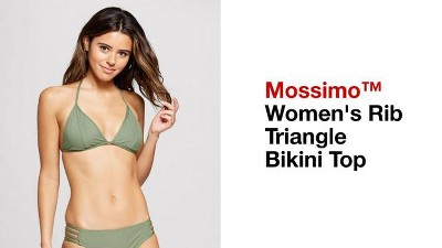 2d3ab354f1e73 Women s Ribbed Triangle Bikini Top - Mossimo™ Spring Leaf D DD Cup ...