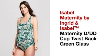 ef444ee9e0209 Maternity D/DD Cup Twist Back One Piece Swimsuit - Isabel Maternity by  Ingrid & Isabel™ Green Glass. Shop all Isabel Maternity by Ingrid & Isabel