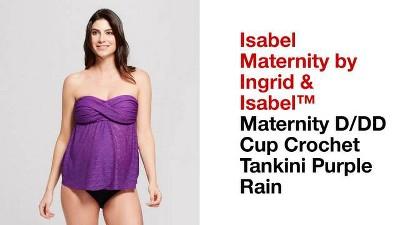 d1b985b45974b Maternity D/DD Cup Crochet Flyaway Tankini - Isabel Maternity by Ingrid &  Isabel™ Purple Rain
