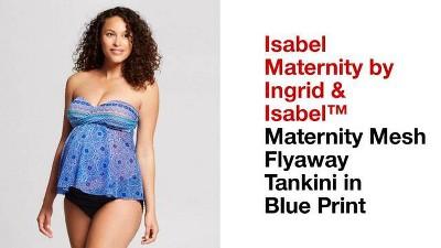 2116d2e8ac83d Maternity Mesh Flyaway Tankini - Isabel Maternity by Ingrid & Isabel™ Blue  Print