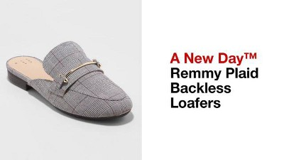 7993461a696 Women s Remmy Plaid Backless Loafers - A New Day™   Target