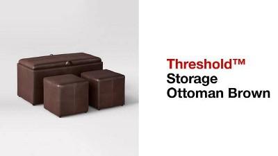 4pc storage ottoman brown threshold target 3 more solutioingenieria Images