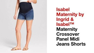 e938f5949ea8f Shop all Isabel Maternity by Ingrid & Isabel. Play Isabel Maternity by  Ingrid & Isabel™ Maternity Crossover Panel Midi Jeans Shorts ...