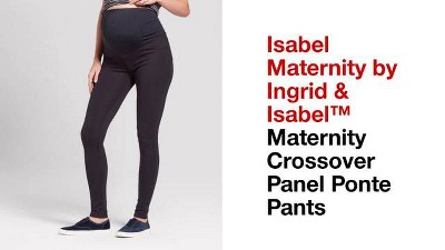 345d0d2f1e548 Maternity Crossover Panel Ponte Pants - Isabel Maternity By Ingrid ...