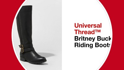 bc2f5bc104ca Play Britney Buckle Riding Boots - Universal Thread™ - v1 - video 1 of 1. +  1 more