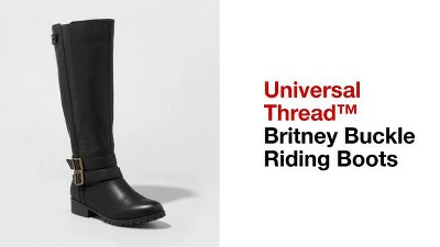bd988456c759a5 Women s Britney Wide Calf Buckle Riding Boots - Universal Thread ...