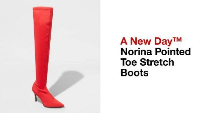 3d5def5232d Women s Norina Wide Width Pointed Toe Sock Boots - A New Day™ Red ...