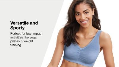 495e01d85e Hanes® Women s ComfortFlex Fit® Stretch Cotton Sport Bra H570 2pk ...