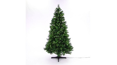 Prelit Artificial Christmas Tree Douglas Fir Clear Lights Rotating Stand Wonder 2 More