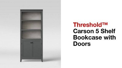 72 Carson 5 Shelf Bookcase With Doors