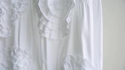 Lush Dcor Serena Flower Texture Shower Curtain Target