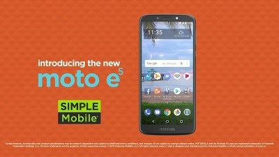 Simple Mobile Prepaid Motorola E5 (16GB) - Dark Gray