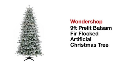 4 more play wondershop 9ft prelit balsam fir flocked artificial christmas tree