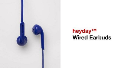 heyday™ Wired In-Ear Flat Cable Earbuds