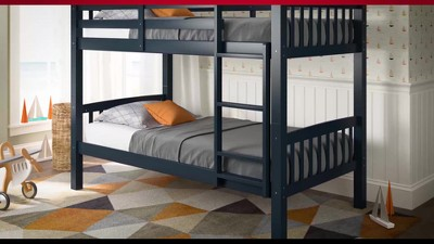 Dakota Twin Single Over Full Double Bunk Bed Corliving All