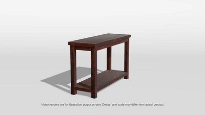 mibasics sineca simple natural wood grain sofa table dark cherry rh target com simple diy sofa tables simple diy sofa tables