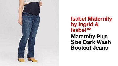 c2826811a54 Maternity Plus Size Crossover Panel Bootcut Jeans - Isabel Maternity by  Ingrid   Isabel™ Dark Wash 20W