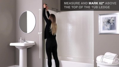 Dual Mount Curved Shower Curtain Rod Chrome Threshold Target