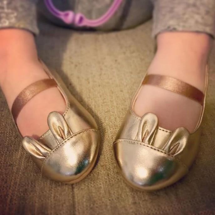 Toddler Girls' Callie Ballet Flats Silver - Cat & Jack™