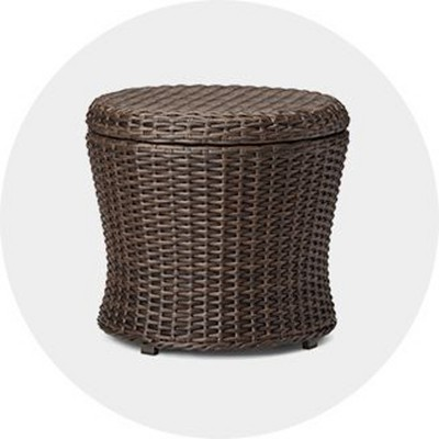 Astounding Outdoor Ottomans Poufs Target Andrewgaddart Wooden Chair Designs For Living Room Andrewgaddartcom