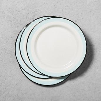 Enamel Salad Plate - Black/Blue/Cream - Hearth & Hand™ with Magnolia