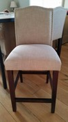 Camelot Nailhead Trim 25 Quot Counter Stool Hardwood Toast