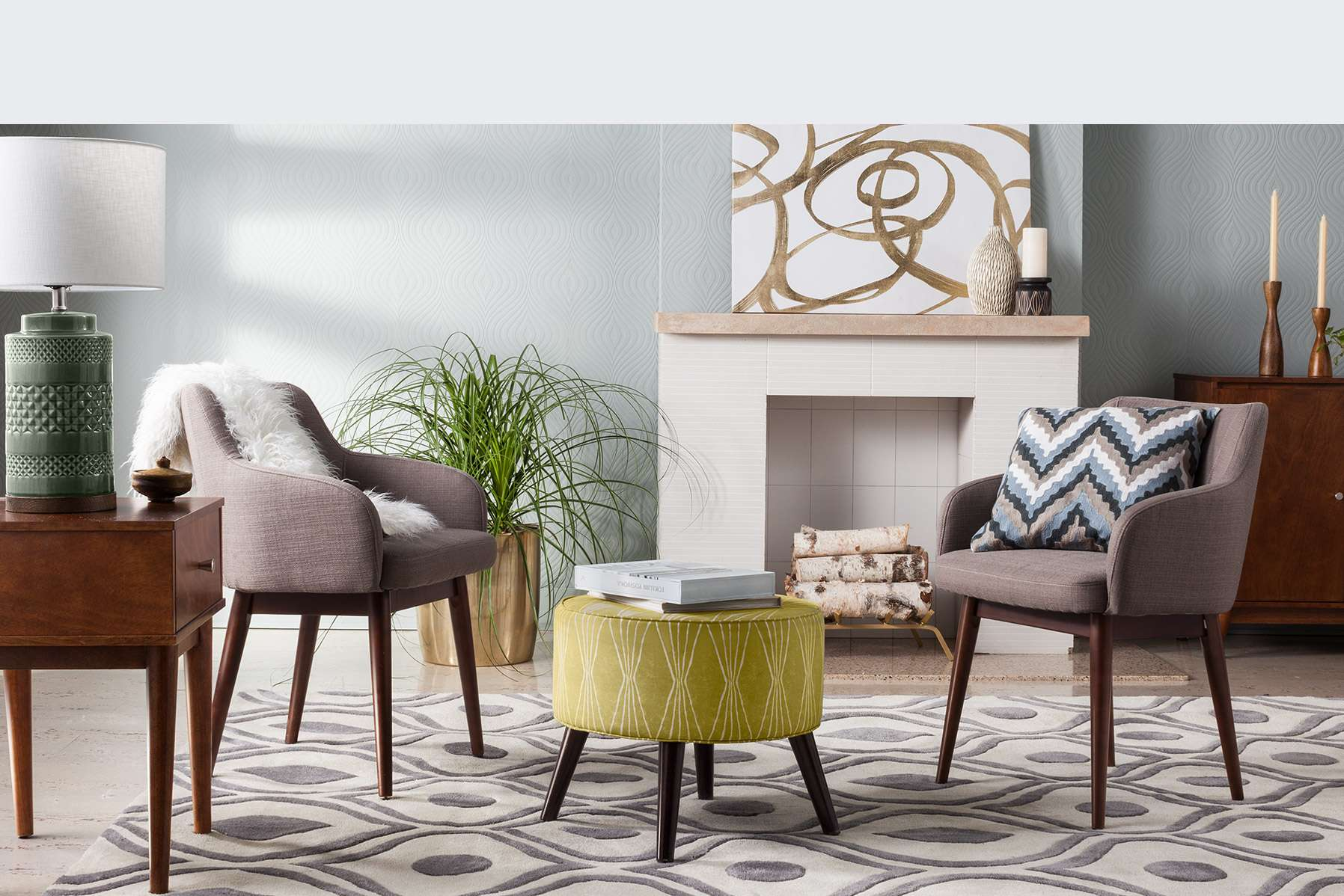 Foremost midcentury modern decor target for Modern accents