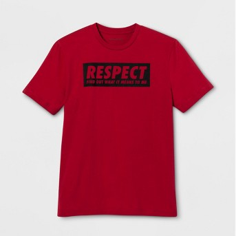 Lyric Culture Adult Short Sleeve Respect T-Shirt - Red