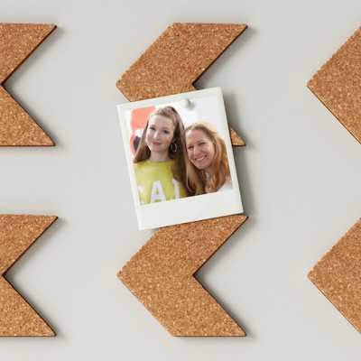 Cork Chevrons Removable Wall Decal Light Brown - Room Essentials™