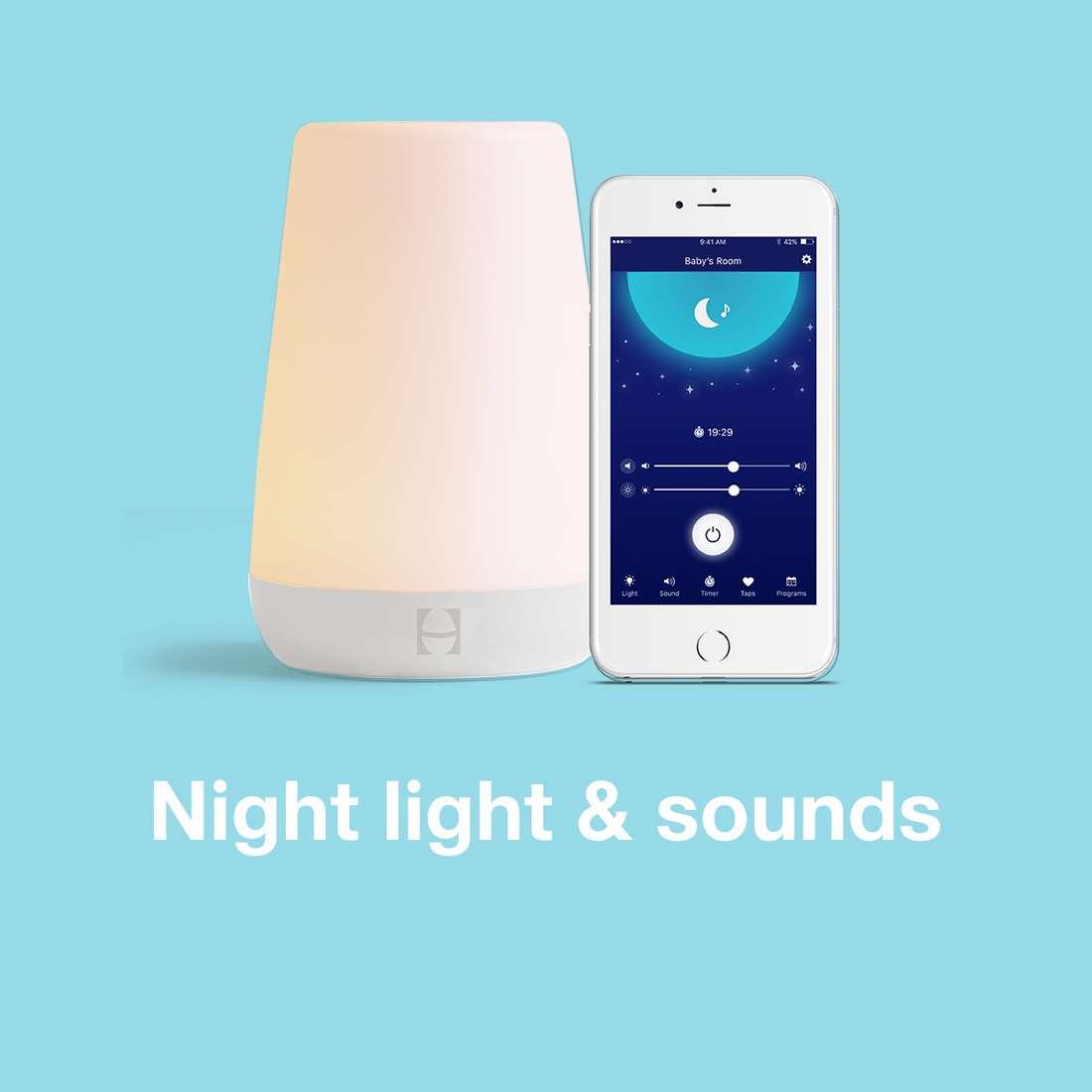 24 Timer Sound hatch rest sound machine, night light & time-to-rise : target
