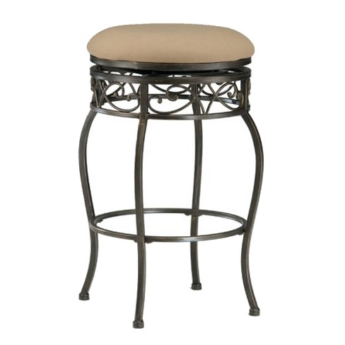 Lincoln Swivel Barstool Metal/Black/Gold - Hillsdale Furniture - image 1 of 1