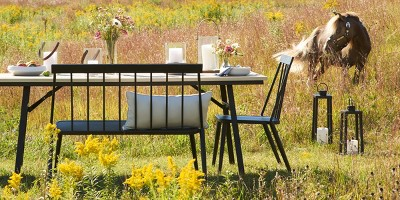 Give Your Outdoor Space A Modern Farmhouse Feel With A Combo Of Weathered  Woods And Black Metal Furniture. Keep Decor Simple,