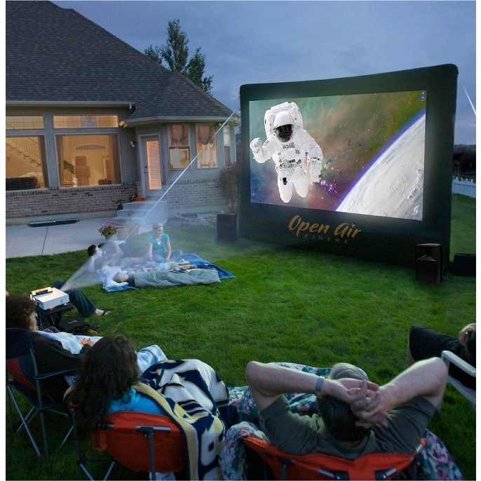 Inflatable Home Theater System - 12'x7'