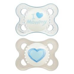 MAM Love & Affection Pacifier 0-6 Months - 2ct Blue