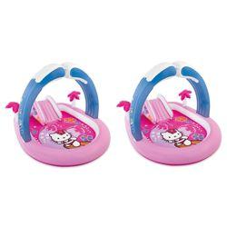 11456f0cb25b Intex Hello Kitty Play Center Inflatable Kiddie Playset Swimming Pool (2  Pack)