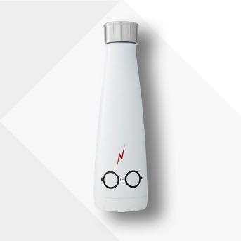 Harry Potter S'ip by S'well 15oz Stainless Steel The Boy Who Lived Water Bottle White