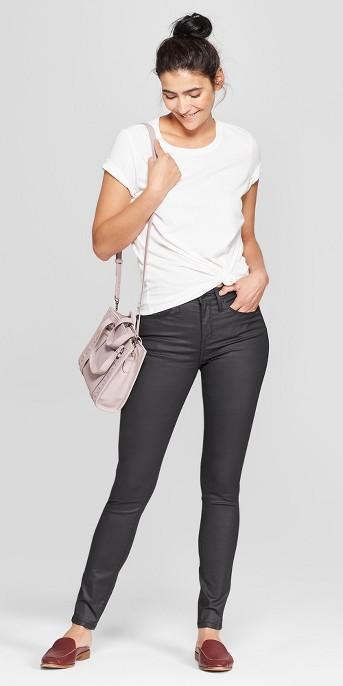 Women's High-Rise Coated Skinny Jeans - Universal Thread™ Black