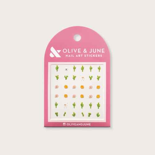 Olive & June My BFF is a Llama Nail Art Stickers - 36ct
