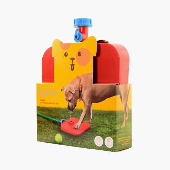 Quirky Pawcet Drinking Fountain For Dogs Red