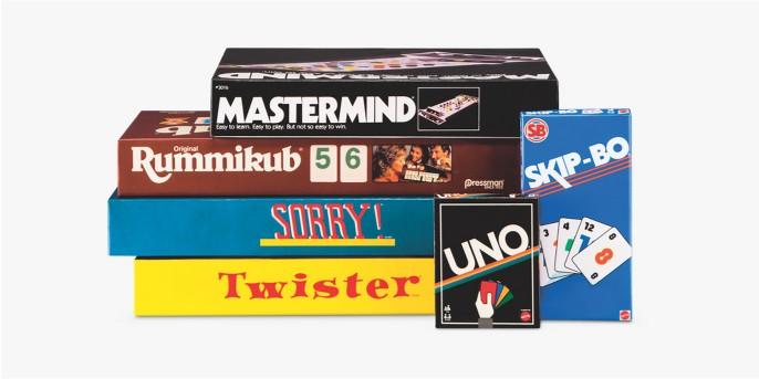 UNO Card Game - Retro Edition, Retro Mastermind Game, Skip-Bo Card Game, Winning Moves Classic Sorry Game, Winning Moves Classic Twister Game