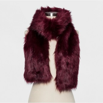 Women's Oversized Faux Fur Scarf - A New Day™