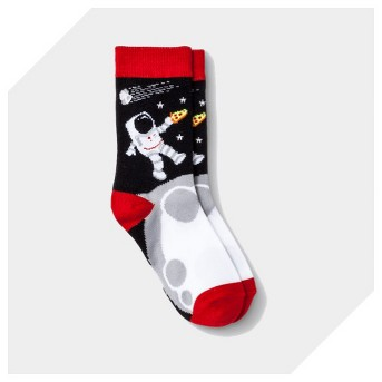 Boys' 4pk Astronaut Print Crew Socks - Cat & Jack™