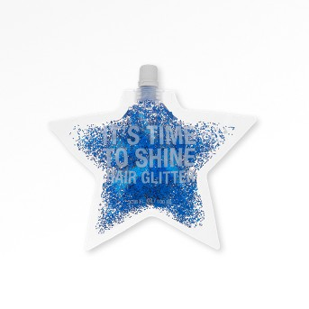 Jean Pierre It's Time To Shine Star Hair Glitter Pouch - Blue - 100ml