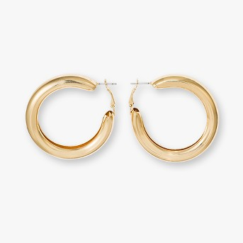 Open Hoop Smooth Surface Earrings - Wild Fable™ Gold