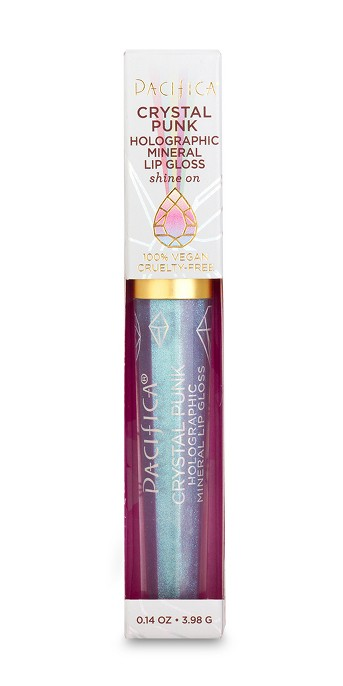 Pacifica Crystal Punk Holographic Mineral Lip Gloss - 0.14oz