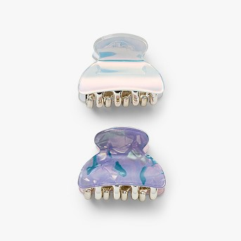 Laminated , Iridescent, Abalone Claw Clip 2ct - Wild Fable™ Purple